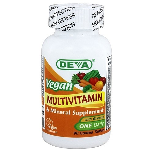 Deva Vegan One Daily Multivitamin and Mineral Tablets, 90 Ct