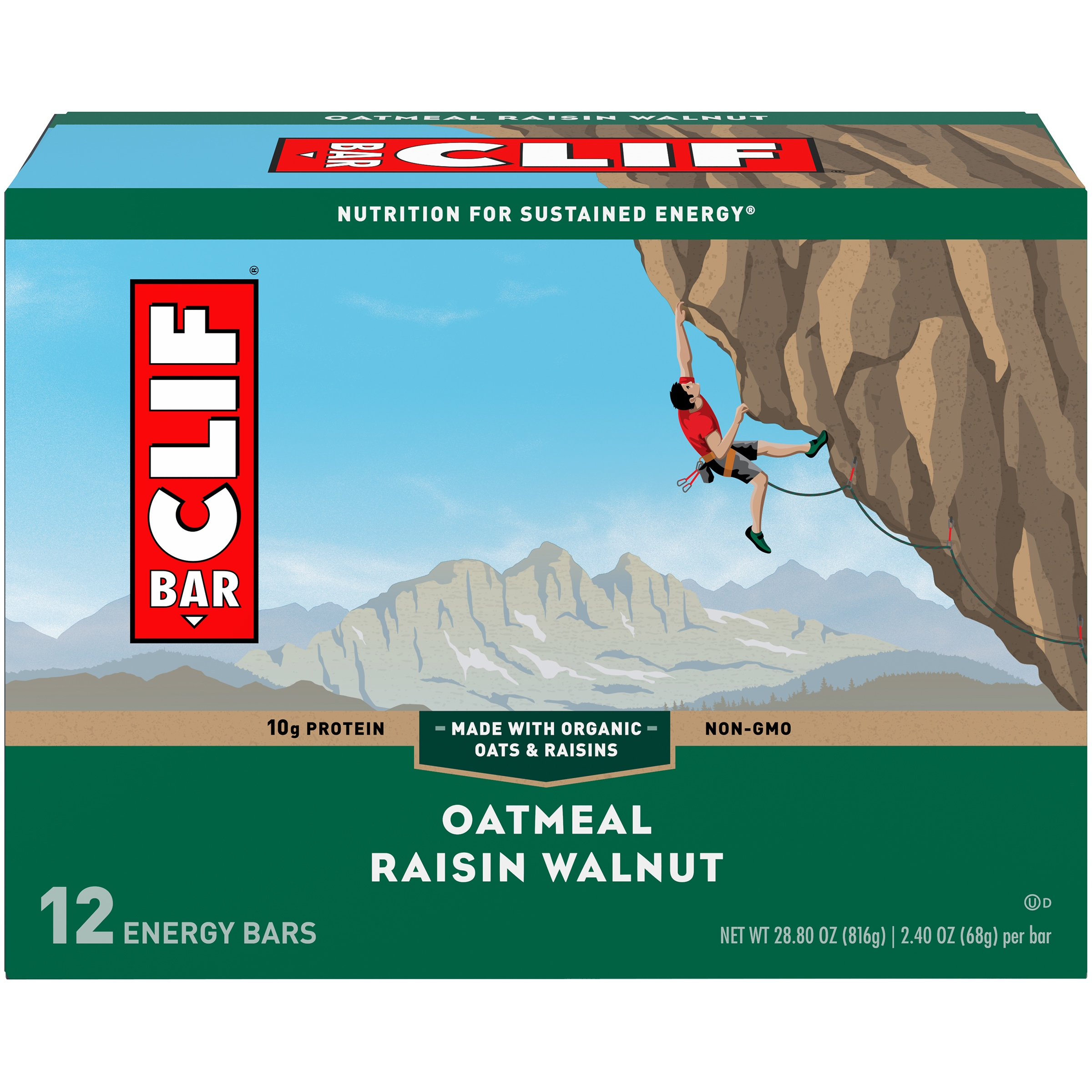 Clif® Oatmeal Raisin Walnut Energy Bar 12-2.4 oz. Bars