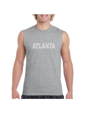 Big Men's sleeveless t-shirt - Atlanta neighborhoods