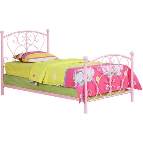 Furniture of America Alison Princess Inspired Metal Twin Bed, Multiple Colors