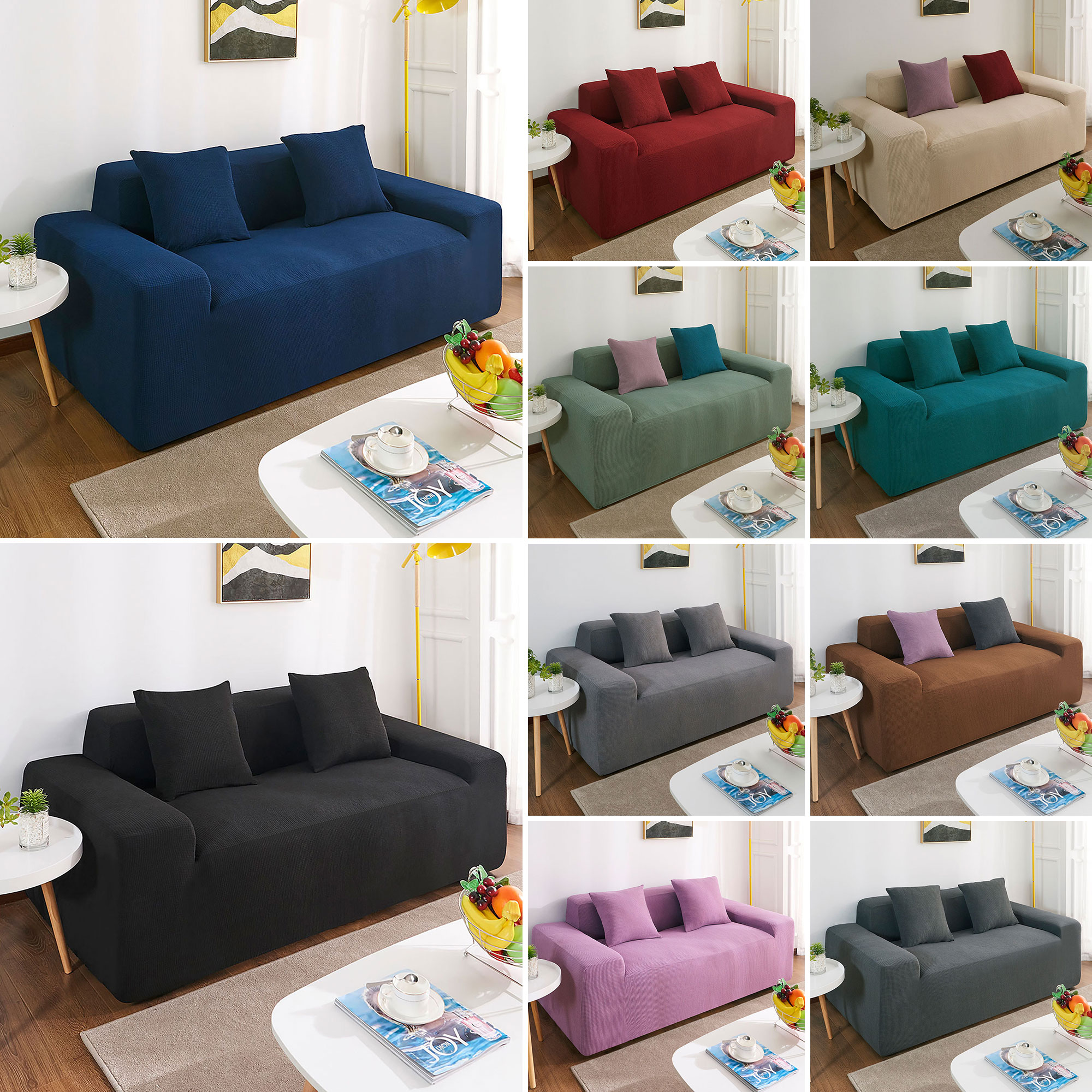 Water Repellent Sofa Covers Couch Covers EASY Stretch 1 2 3 4 Seaters  Slipcover
