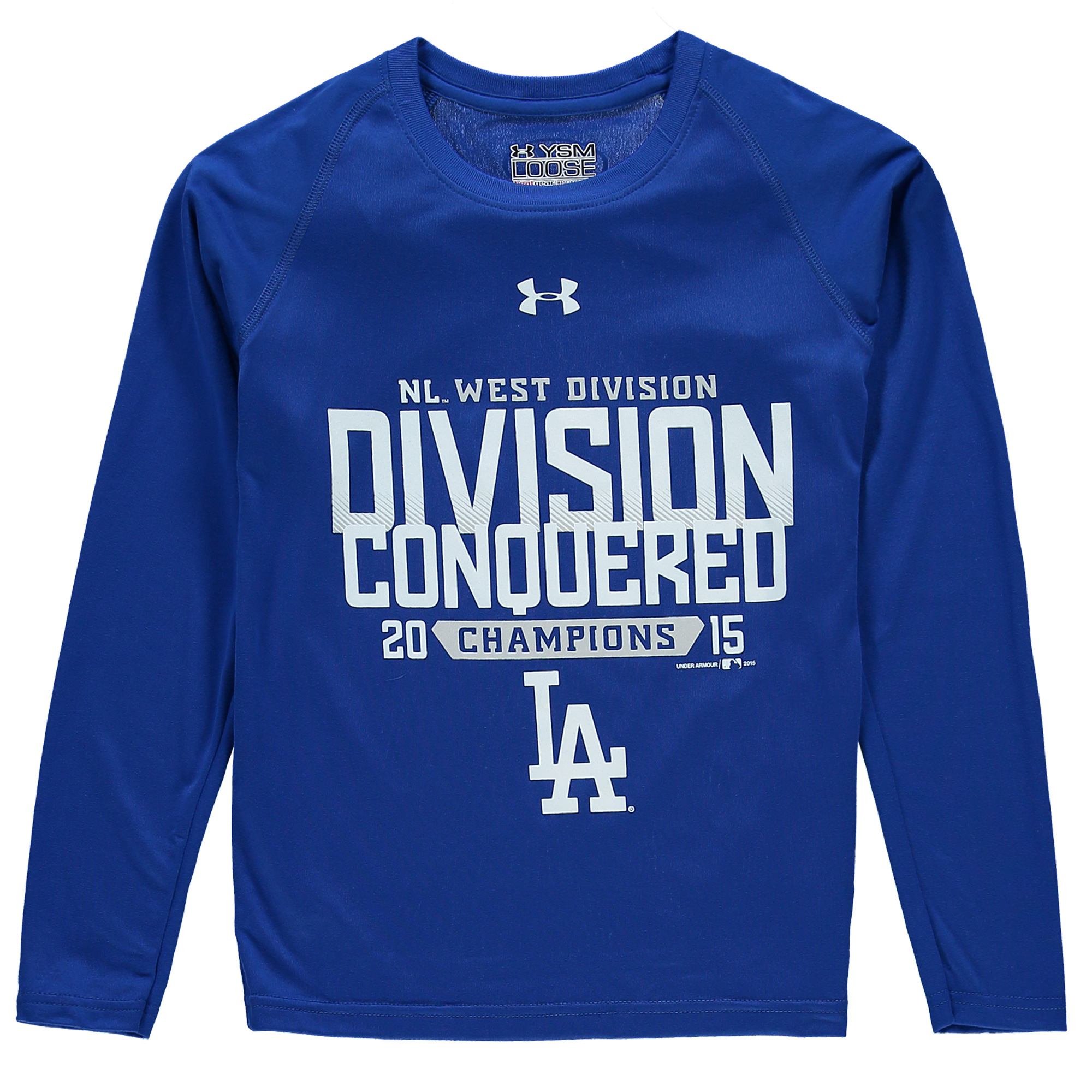 Los Angeles Dodgers Under Armour Youth 2015 NL West Division Conquered Tech Long Sleeve T-Shirt - Royal