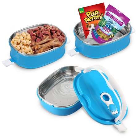 Portable Dog Water Bowl >> Youthink Travel Pet Bowl Set Stainless Steel Travel Dog Bowls Portable Dog Food Bowl Spill Proof Dog Water Bowl Pet Treats Toys Poop Bags Leash Travel