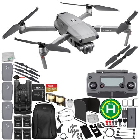"""DJI Mavic 2 Pro Drone Quadcopter with Hasselblad Camera 1"""" CMOS Sensor 64GB Ultimate Everything You Need 4-Battery Bundle"""