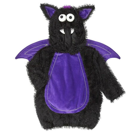 Infant Boys & Girls Hooded Bat Costume Halloween Jumper with Hood & Wings