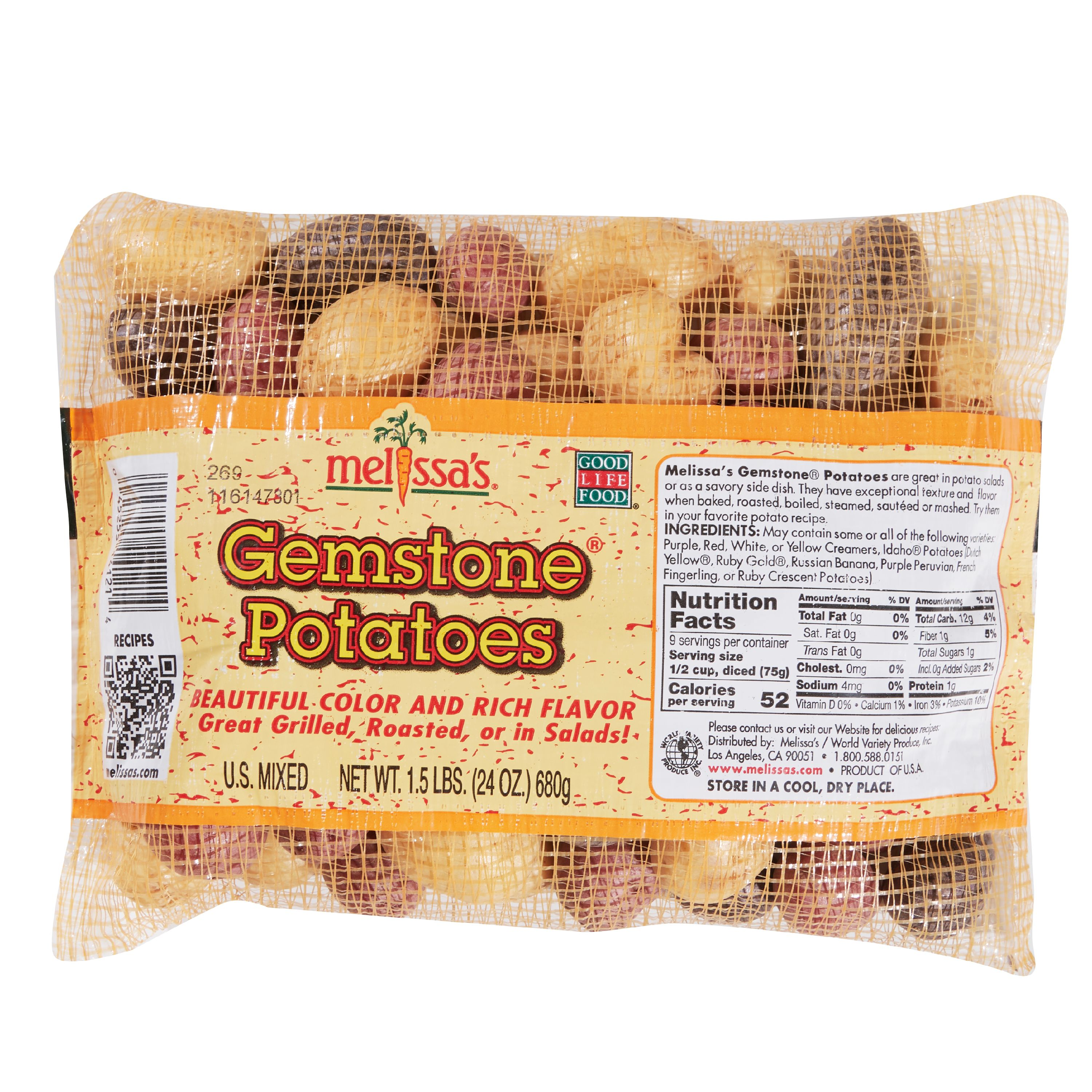 Gemstone Medley Baby Potatoes, 1.5 lb Bag