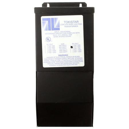 Tokistar T24/600 Low-Voltage Lighting Transformer, Output 600W @ 24V, In 120V 600w Remote Magnetic Transformer
