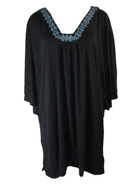 7297ea028a Product Image Dotti Women s Plus Jewel Tones Flutter-Sleeve Tunic Cover-Up