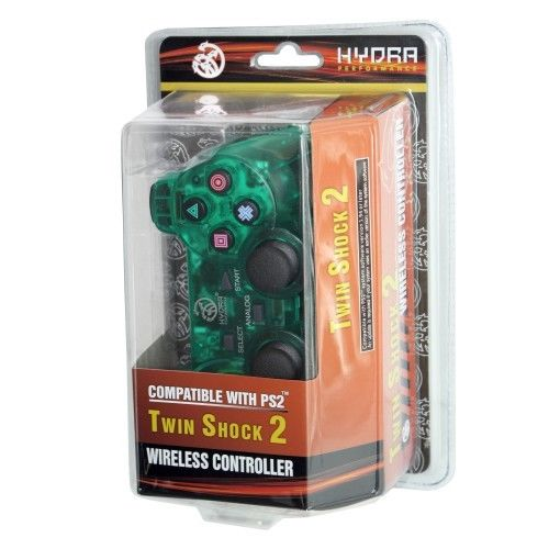 PS2 Wireless Hydra Clear Green Controller for Sony Playstation 2 System