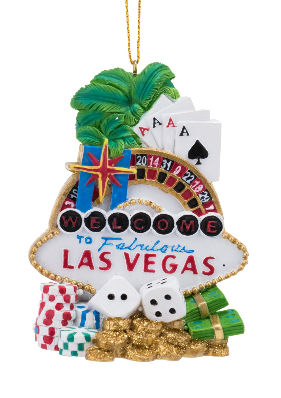 Wel e to Fabulous Las Vegas Christmas Holiday Ornament Walmart