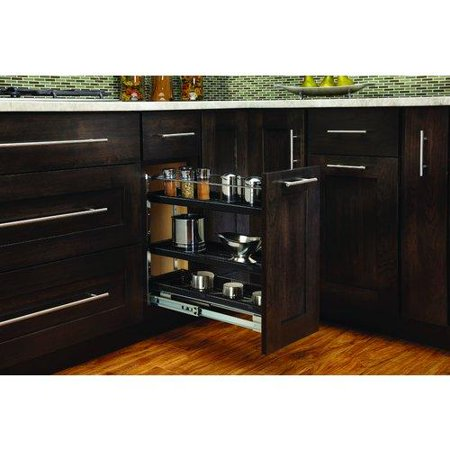 Rev-A-Shelf  548-BC-8C  Pull Out Organizers  548  Base Cabinet Organizers  Shelves  ;Black