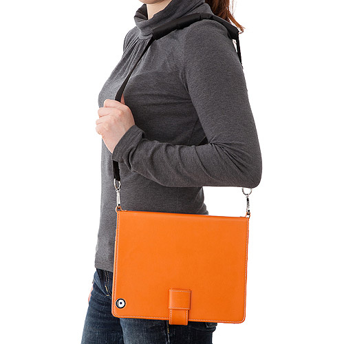 Simplism Leather Flip Note for the new iPad Orange