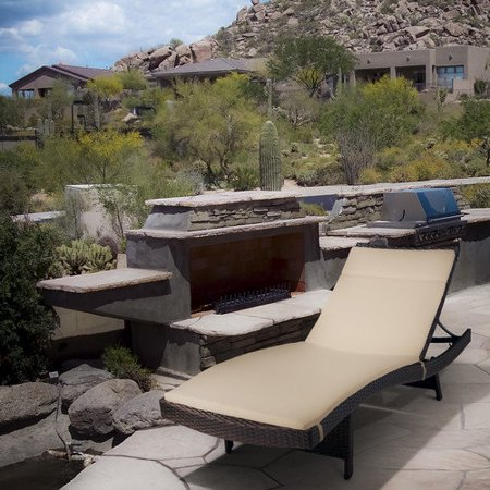 Outdoor brown wicker adjustable chaise lounge for Braddock heights chaise lounge