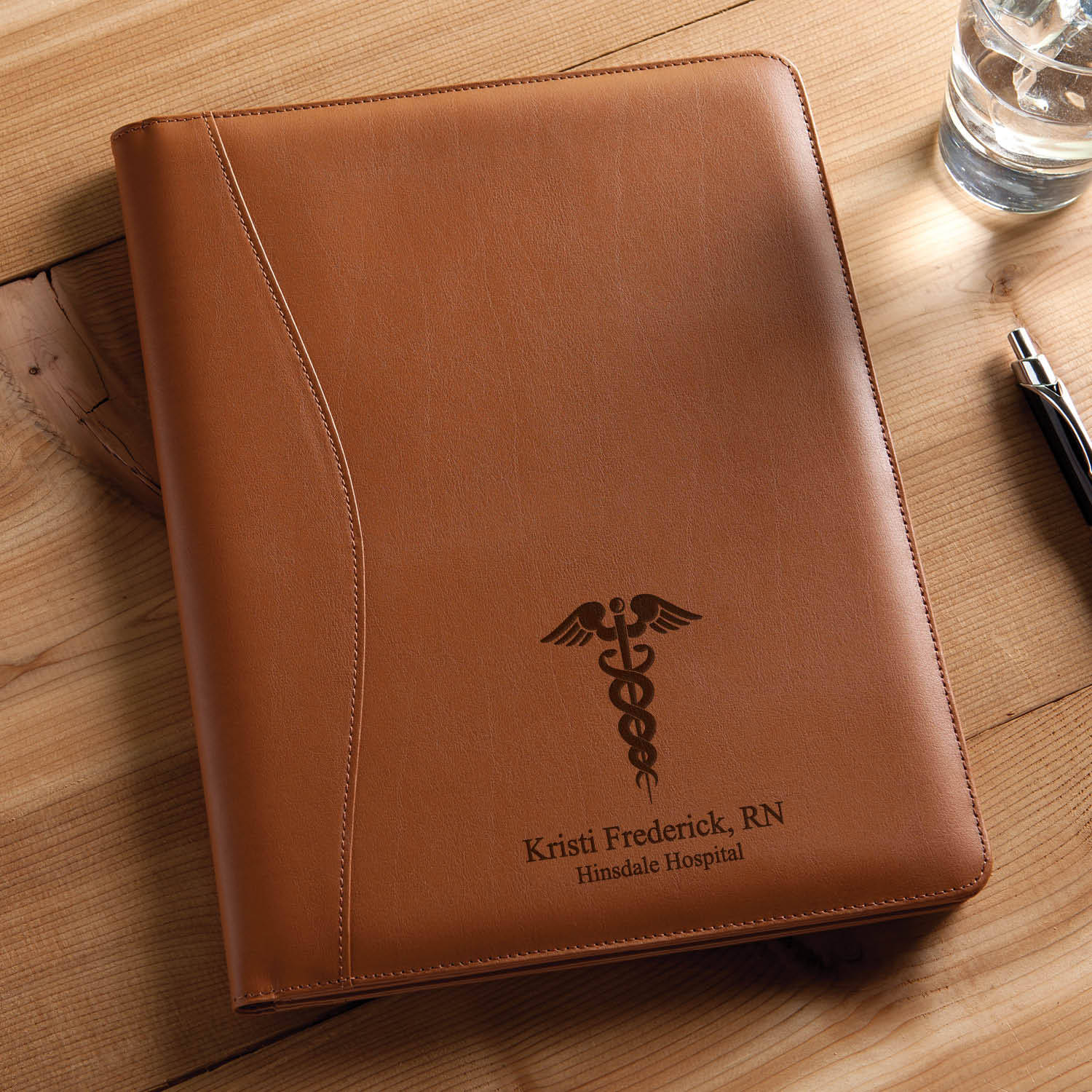 Personalized Medical Profession Leather Padfolio