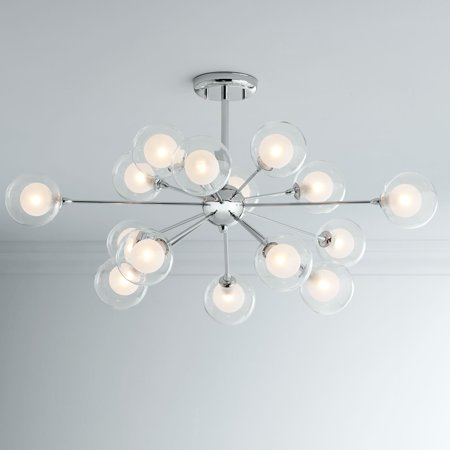 Possini Euro Design Gl Sphere 15 Light Ceiling