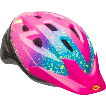 Bell Rally Girls Bike Helmet, Pink Splatter, Child 5+ (52-56cm) - Kids Steelers Helmet