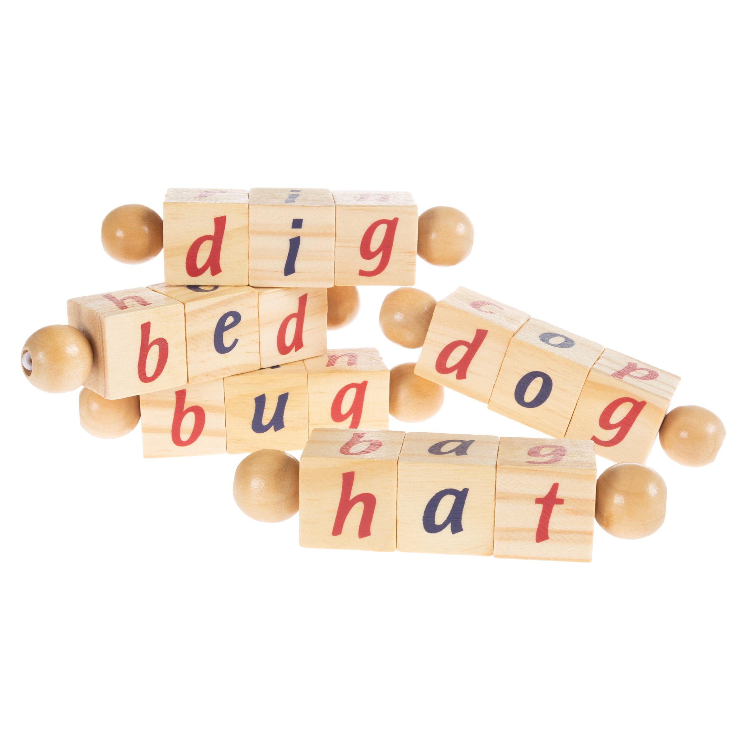 Twist Blocks Early Learning Wooden Alphabet Letters Montessori