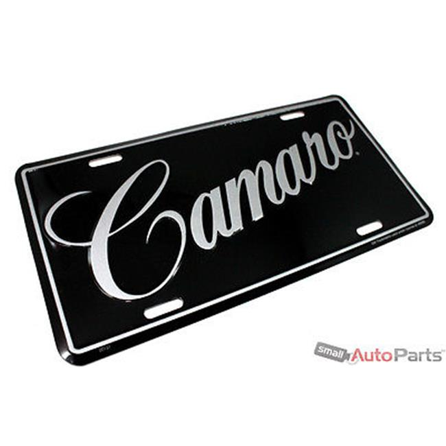 SmallAutoParts Aluminum License Plate - Camaro
