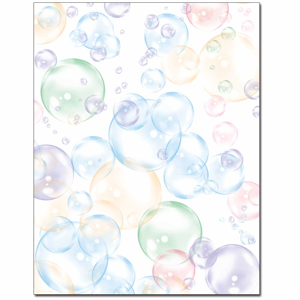 Floating Bubbles Letterhead Laser & Inkjet Printer Paper