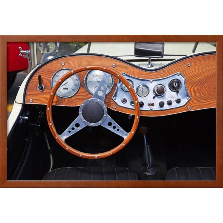 Dashboard of the Vintage Car Framed Print Wall Art By swisshippo ...