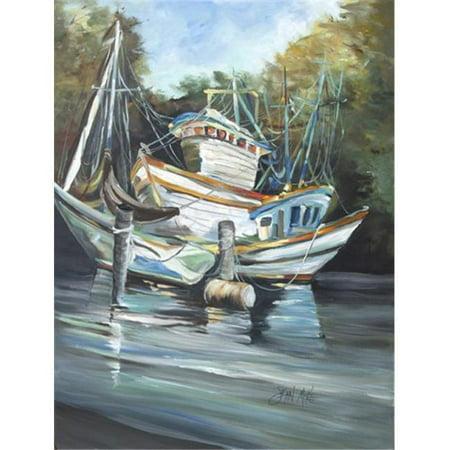 Shrimpers Cove And Shrimp Boats Flag Garden Size - image 1 de 1