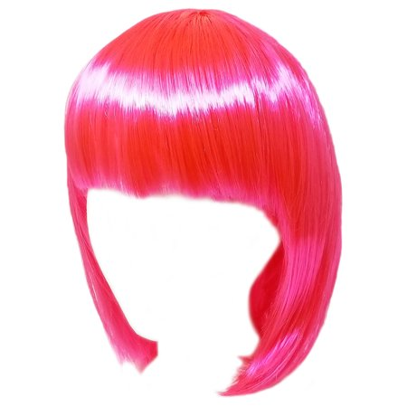 SeasonsTrading Economy Pink Bob Wig - Adult Costume Cosplay Party Wig (Pink Bob Wig)
