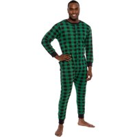 bfd1bfb68a Product Image Ross Michaels Mens Buffalo Plaid One Piece Union Suit Pajamas  w  Drop Seat