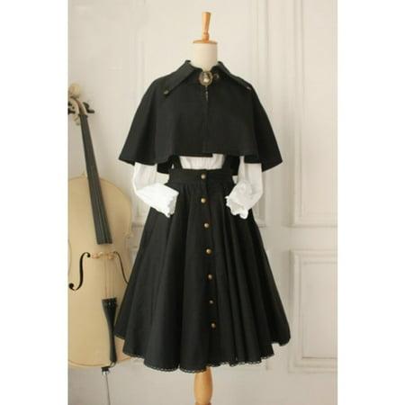 Women Vintage Lolita Three-Piece Suit Dress Classic Dress
