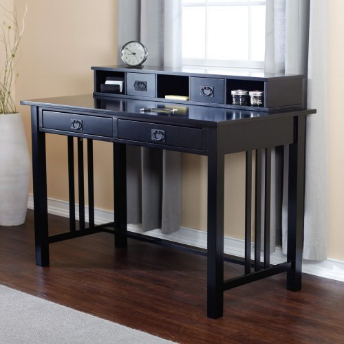 The Mission Writing Desk Collection - Black