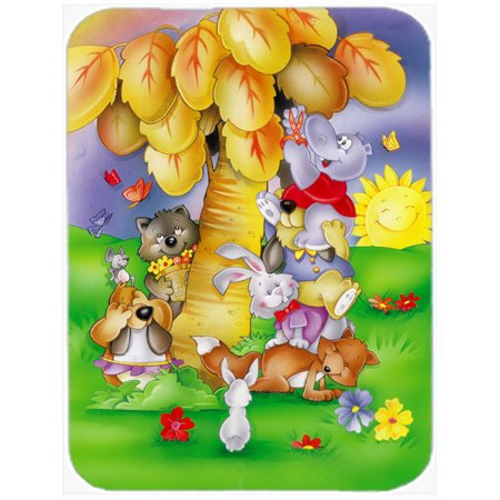 Animals under the coconut tree Mouse Pad, Hot Pad or Trivet APH0977MP