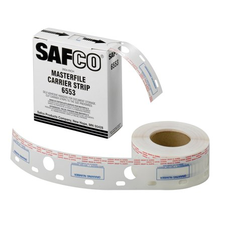 Safco 2.5W in. Polyester Carrier Strips for MasterFile 2