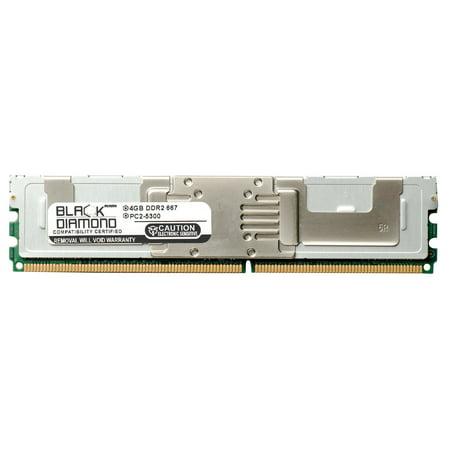 4GB RAM Memory for Dell Precision Workstation 690 ESSENTIAL 240pin PC2-5300 DDR2 FBDIMM 667MHz Black Diamond Memory Module Upgrade 667mhz Ecc Fb Dimm Memory