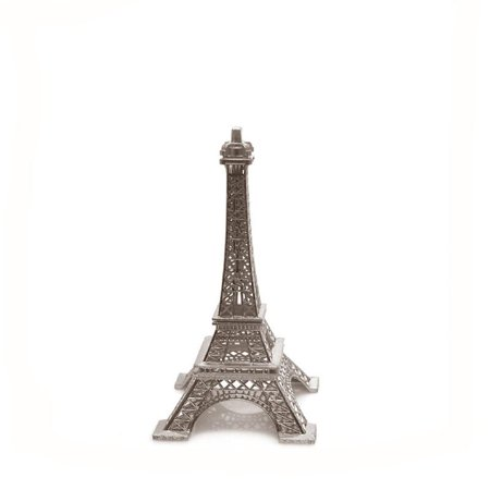 Metal Eiffel Tower Paris France Souvenir, 6-inch, Silver