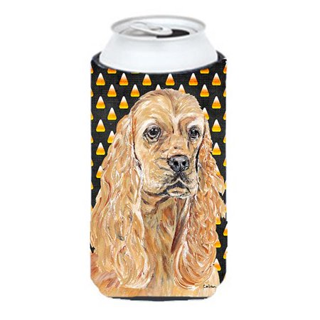 Cocker Spaniel Halloween Candy Corn Tall Boy bottle sleeve Hugger - image 1 de 1