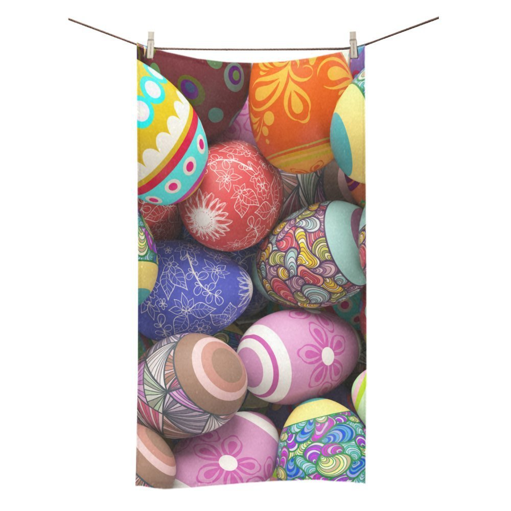 MYPOP Colorful Easter Eggs Shower Towel Bathroom Bath Towel 30x56 inches