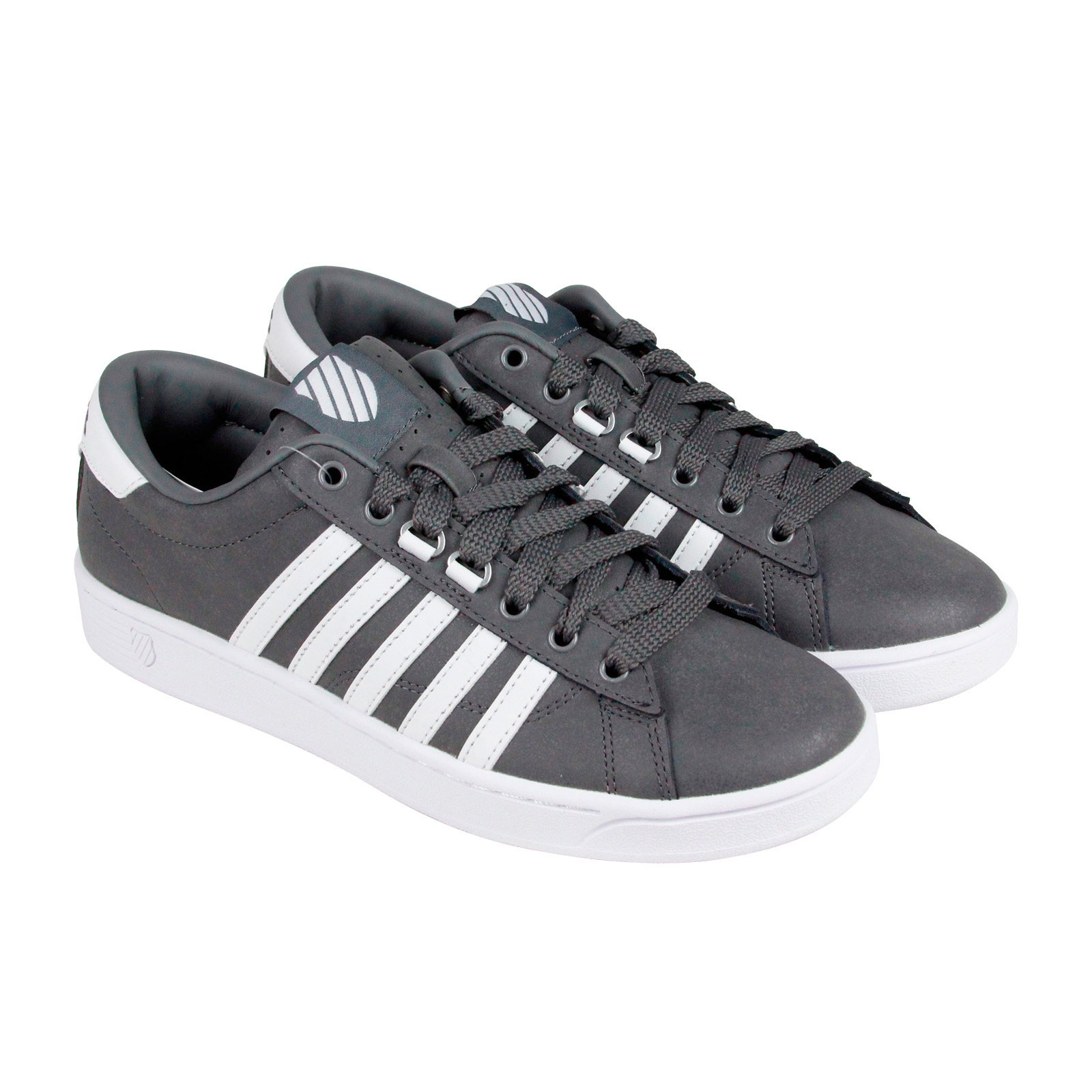 K-Swiss Hoke C CMF Mens Grey Leather Lace Up Sneakers Shoes by K-Swiss