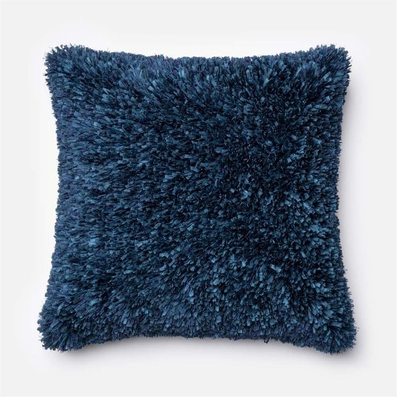 "Loloi 1'10"" x 1'10"" Poly Pillow in Navy"