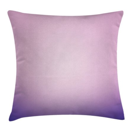 Gradient Design (Lavender Throw Pillow Cushion Cover, Pink and Purple Ombre Print Modern Pastel Color Gradient Design Digital Art, Decorative Square Accent Pillow Case, 16 X 16 Inches, Light Pink Lilac, by Ambesonne)