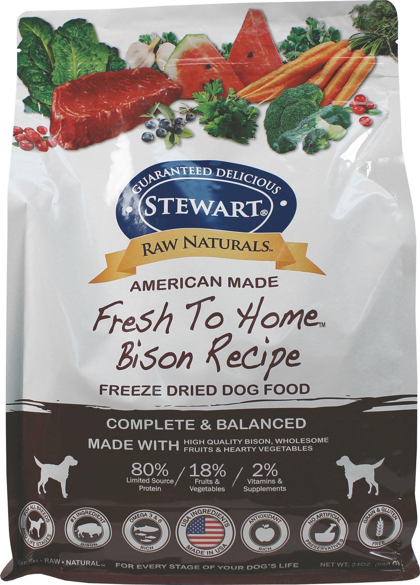 Stewart Raw Naturals Bison Recipe Freeze Dried Dog Food 24 Oz Walmart Com Walmart Com