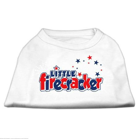 Little Firecracker Screen Print Shirts White XS 8