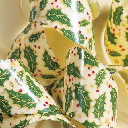 PCB Chocolate Transfer Sheet: Christmas Holly Leaves, Pac...