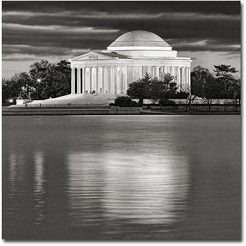 "Trademark Fine Art ""Jefferson Memorial- Night"" Canvas Wall Art by Gregory O'Hanlon"