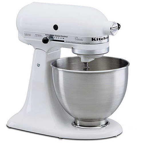 White Kitchenaid Mixer kitchenaid classic 4.5-quart stand mixer with bonus spatula
