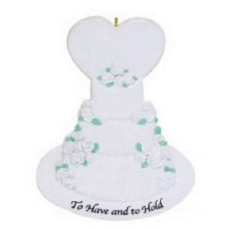 To Have and To Hold Wedding Cake Christmas Ornament Tree Decoration