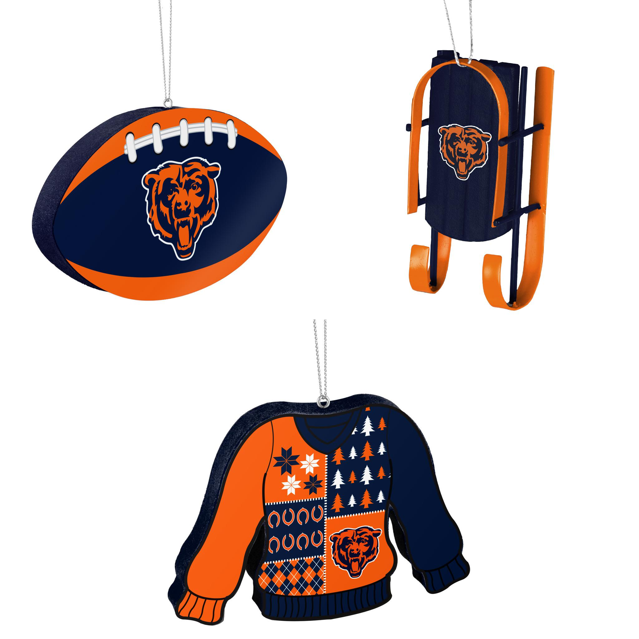 Nfl Chicago Bears Foam Christmas Ball Ornament Sled Ugly Sweater