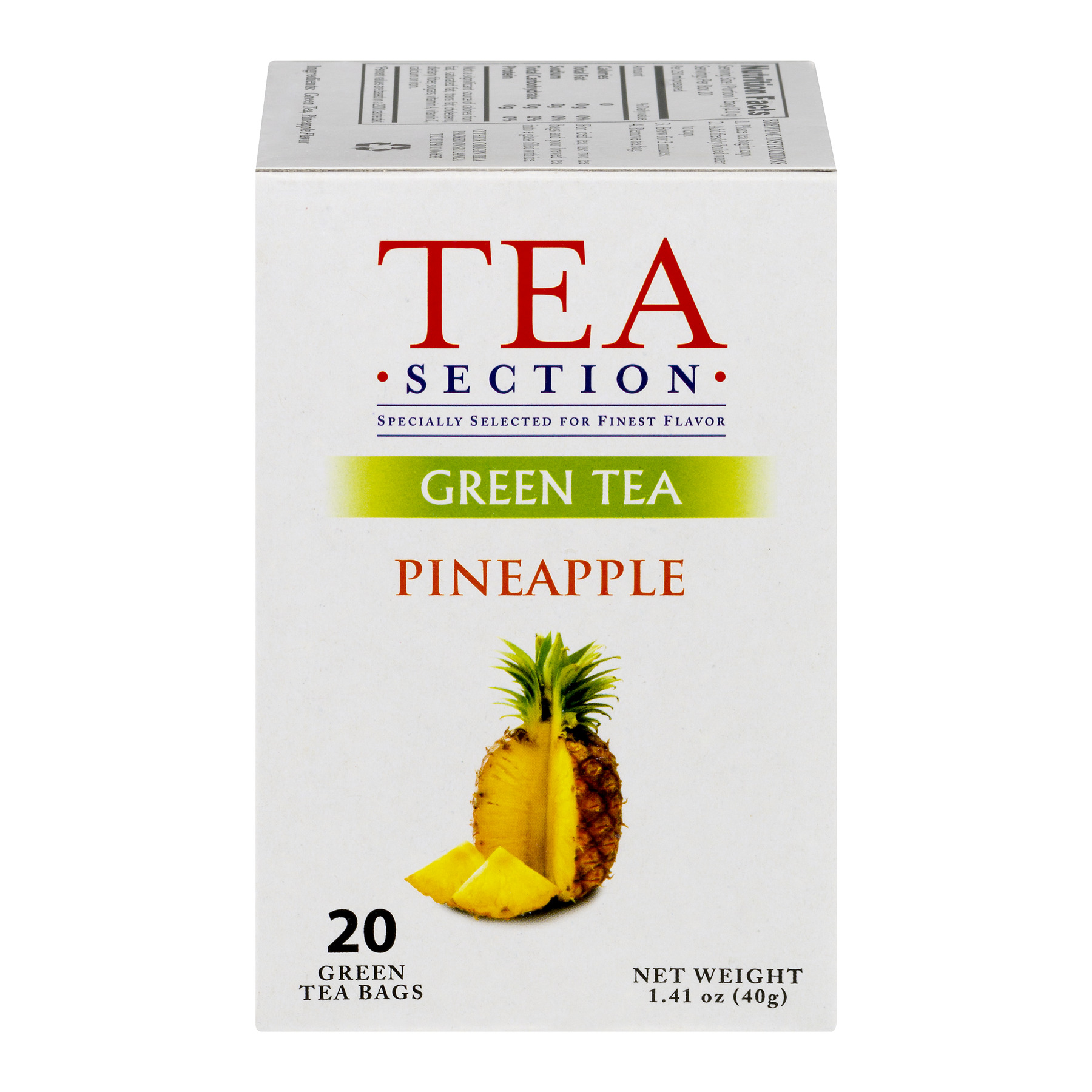 Tea Section Pineapple Green Tea Bags, 20 count, 1.41 oz