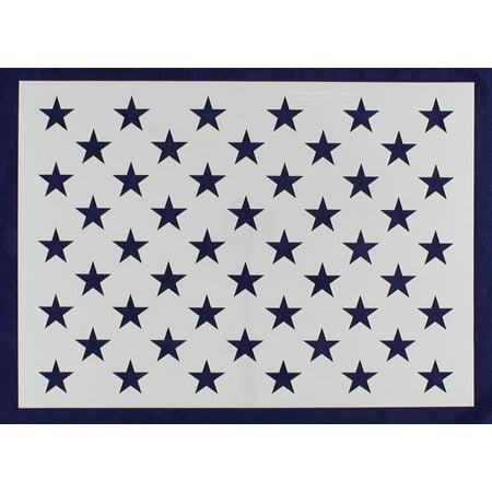 50 Star Field Stencil - US / American Flag - G-Spec 13.6