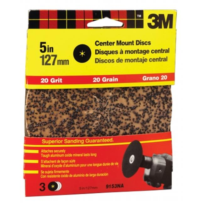 3m 5inch Extra Coarse Center Mount Discs  9153DC-NA