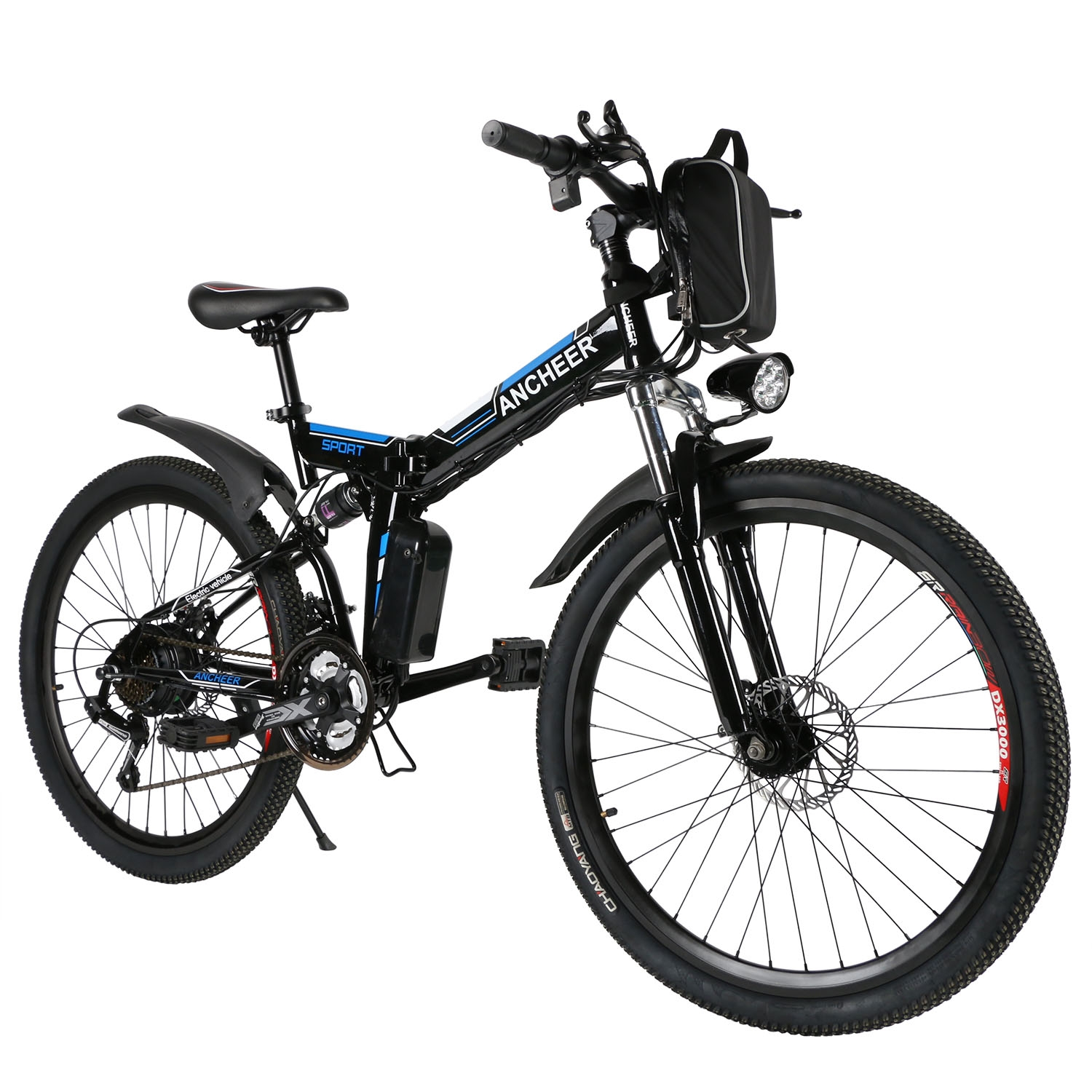 Folding Electric Mountain Bike with 26 Inch Wheel & Removable Lithium-Ion Battery WSY by