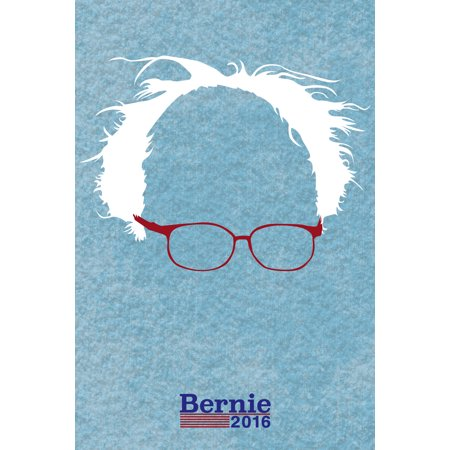 Bernie Sanders For President 2016 Hair And Glasses Campaign Poster 12X18 Inch